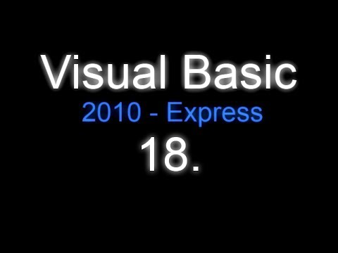 Visual Basic 2010 - $18$ - CZTutorial - save text file - by Creshex ;-)